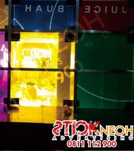 Percetakan Sticker Neon Box Huruf Timbul 16